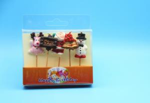 China Pretty Christmas Shaped Cute Birthday Candles , Fancy Birthday Cake Candles on sale