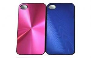 China Aluminum Metal Back Cover Cell Phone Protective Cases Red / Blue For iPhone4 / 4s on sale