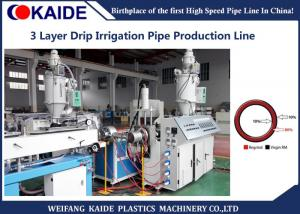 China Plastic Pipe Extrusion Machine , Drip Irrigation Pipe Machine With Recycled Material on sale