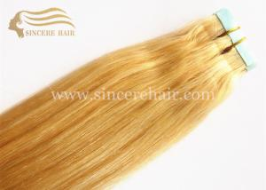 China 55 CM Straight Remy Single Drawn Double Sided Glue Tape Hair Extensions 2.5 G X 20 PCS for sale on sale