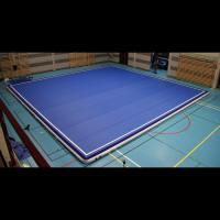 Compact Blow Up Gymnastics Mat , Thick Gymnastics Tumble Track At Home