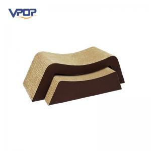 China Arch Shape Modern Cat Furniture Cordboard With Strict Production Standard supplier