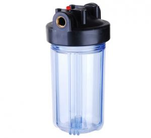 China Clear Jumbo Plastic Water Filter Housing 10 Inch 115Psi Maximum Pressure on sale
