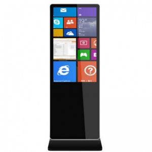 China 43 to 65 Inch High Brightness Floor Stand  LCD Indoor Advertising Interactive Touch Screen Kiosk on sale