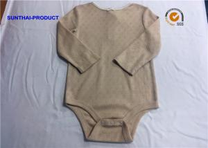 China 100% Cotton Newborn Baby Bodysuits Crew Neck Long Sleeve Baby Romper For Girls on sale