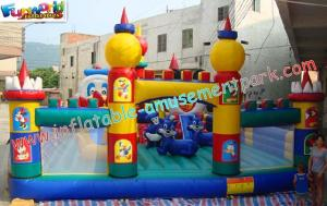 China OEM Safety Inflatable Amusement Park Play Structures 14L x 7W x 5H Meter on sale