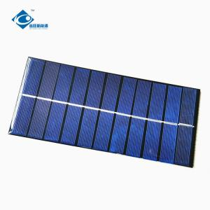 China ZW-18081 Customized Mini Solar Panels 2W High Conversion Solar Cell Phone Charger 5.5V on sale
