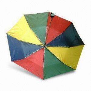 China 3-foldable Mini Umbrella, Made Of 190T Nylon, Customized Designs are Accepted on sale
