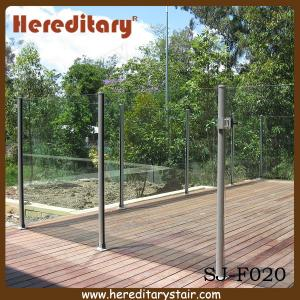 China Semi Frameless Glass Pool Fencing with Round Post Aluminium (SJ-F020) on sale