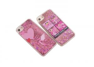 China Summer Design Custom Made Phone Cases Pinkpanther With Shimmering Powder on sale