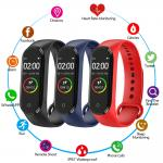 M4 Smart Wristband Watch Heart Rate Monitor Bracelet With Long Batter Smart Wearable Devices  Blood Pressure Measurement