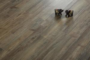 China Wood Textured Vinyl Click System Flooring For School / Hotel 5mm Thickness on sale