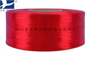 China SD FDY doep dyed polyester yarn multifilament embroidery thread full drawn yarn Elongation on sale