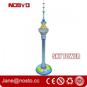 China Sky tower children novelty toys 3d puzzle building diy assembly toys for kids on sale