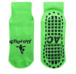 Eco - Friendly Kids Trampoline Socks With Jacquard / Embroidery Pattern