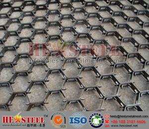 China Petrochemical industry hex-mesh refractory linining | 2mm thickness, 20mm height and 50mm holes | 3'*10' plate size on sale