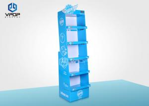 China Food/Clothes Cardboard Shelf  Display , Promotion Retail Cardboard Display Stands on sale