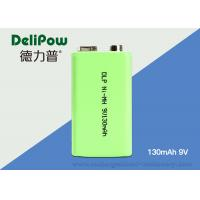 Reliable NiMH 9V Rechargeable Battery , 130mAh Aa Industrial Batteries