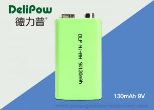 China Reliable NiMH 9V Rechargeable Battery , 130mAh Aa Industrial Batteries on sale
