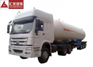 China 25 Tons LPG Tanker Truck , White LPG Transport Truck  Lean Alloy Steel Tank High Reliability on sale