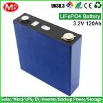 For Solar controller inverter AIO rechargeable lithium ion battery 3.2V 120Ah LiFePO4 Battery Cell
