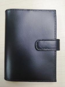 China Black Split Coated Leather Credit Card Holder Classic Men'S Passport Holder on sale