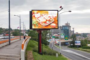 China P8 Full Color Video LED Advertising Screen Display / Waterproof LED Billboard on sale