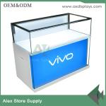 China Mobile phone glass showcase glass display counter China supplier wholesale