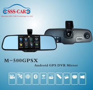China 2015 Newest Car Rearview Mirror Monitor with GPS,DVR,Bluetooth,Android system on sale