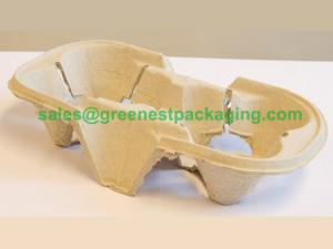 Quality Paper Pulp Molded 2-cell Cup Holder for sale
