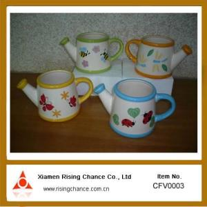 China ceramic flower pot with insect painted on sale