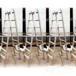 Quadrado marinho da antiguidade da escada de embarque da isolação de alumínio do tubo do andaime