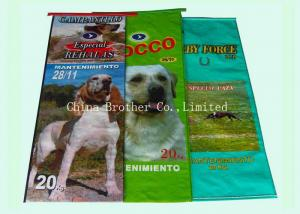 China Woven Polypropylene Empty Feed Bags , Reusable Animal Dog Feed Bag  Eco - Friendly on sale