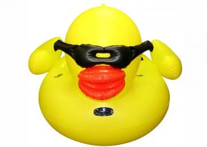 China Eco-friendly PVC Inflatable Pool Floats Yellow Duck Pool Float WF-16 on sale