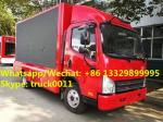 High quality and competitive price FAW brand mobile LED advertising truck for sale, Good price FAW P8/P6 LED truck