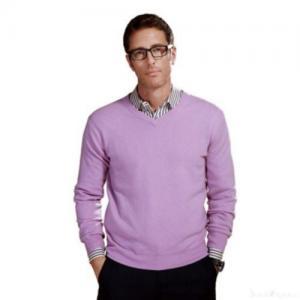 China Men's High-v-neck Cashmere Sweater on sale