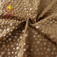 2mm 250gsm Hot Stamping Gold Stamp and Foil Printing velour fabric for Car Seat Cover and furniture