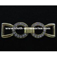 Lady Long Slim Metal Buckles , Both Side Metal Shoe  Buckles Without Pin