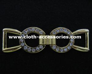 China Lady Long Slim Metal Buckles , Both Side Metal Shoe  Buckles Without Pin on sale