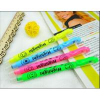Double Ended Highlighter Pen WIth Stamp , Multi Colored Highlighters
