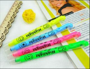 China Double Ended Highlighter Pen WIth Stamp , Multi Colored Highlighters on sale