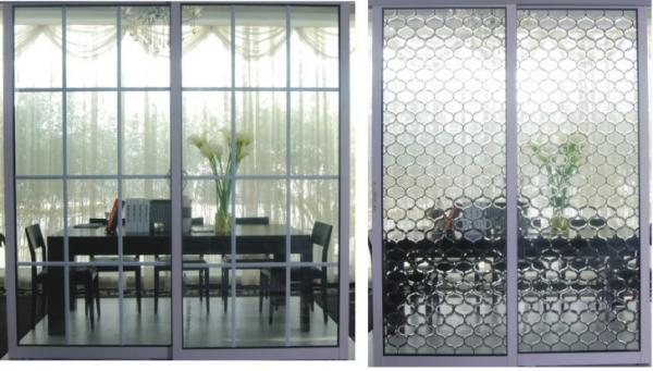 Frosted Glass Metal Room Divider Interior Partition Sliding Doors