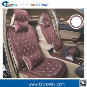 China cubiertas de asiento de carro mezcladas dacron del lino del algodón con la almohada y verano e invierno del movimiento on sale