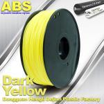 Dark Yellow ABS  Filament ,  Filament 3D Printing Plastic Material 1.75 / 3mm