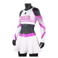 China Premium Pink Sparkle Cheer Dance Clothes For Women Breathable Anti Wrinkle on sale