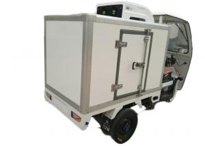 China 3 Wheeler Refrigerated Tricycle / Freezer Cargo Motor Tricycle With Enclosed Box on sale