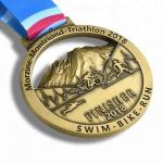 Gold Finishing Boston 3d Printed Medals / Marathon Sports Award Medals