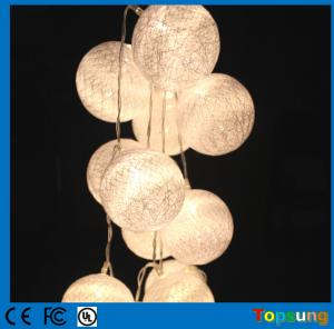 China 10leds invisible led string lights cotton balls battery power light on sale