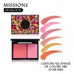 OEM 2 Colors Waterproof Smooth Blusher Palette Cosmetics