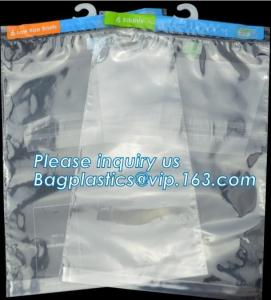 China Hanger Plastic Hook Bag for Packaging on Festivals,Hanger PVC bed sheet packaging bag with buttons,Stationery Set Transp on sale